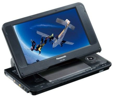 Panasonic dvd-ls86 portable dvd player (85) with 2 batteries, case