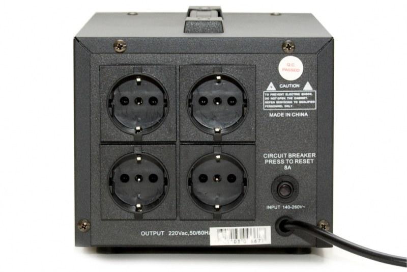 Стабилизатор напряжения Krauler VR-S1000VA черный в Новокузнецке.